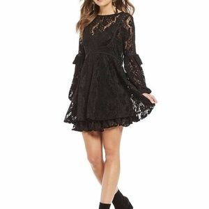 Free People Ruby Crochet Lace Mini Dress